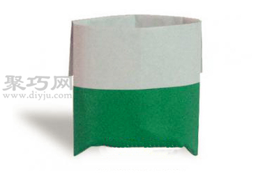 手工折纸收纳袋步骤图解 折纸收纳袋的折法