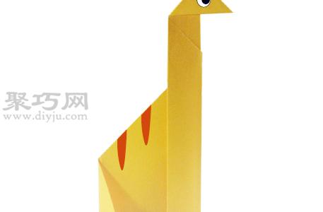 手工折紙腕龍教程 腕龍的折法圖解