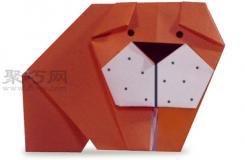 沙皮狗的折法圖解 教你怎么折紙沙皮狗
