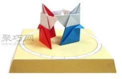 手工折紙相撲力士步驟圖解 折紙相撲力士的折法