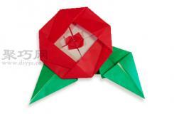 茶花的折法圖解 教你怎么折紙茶花