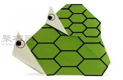 手工折纸亲子乌龟步骤图解 折纸亲子乌龟的折法