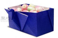 千紙鶴糖果盒的折法圖解 怎么折紙千紙鶴糖果盒