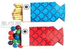 鲤鱼糖果盒的折法图解 教你怎么折纸鲤鱼糖果盒