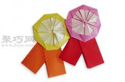 手工折紙小紅花教程 小紅花的折法圖解