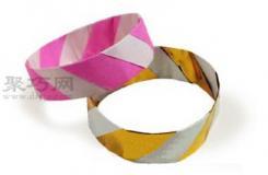手镯折纸教程图解 来学如何折纸手镯