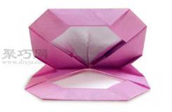 手工折纸化妆盒教程 化妆盒的折法图解