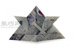 报纸折纸头盔的折法图解 怎么用报纸折纸头盔