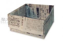方盒子折纸教程图解 来学如何用报纸折纸方盒子