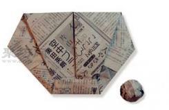 手工折紙棒球手套教程 棒球手套的折法圖解