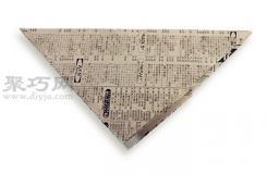 一甩就响纸鞭炮折纸教程图解 来学如何折纸响炮