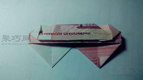 用00元折双心_100元人民币折叠双心用100元钱折双心图解教