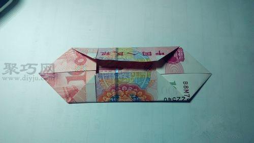 用100元錢折雙心圖解教程