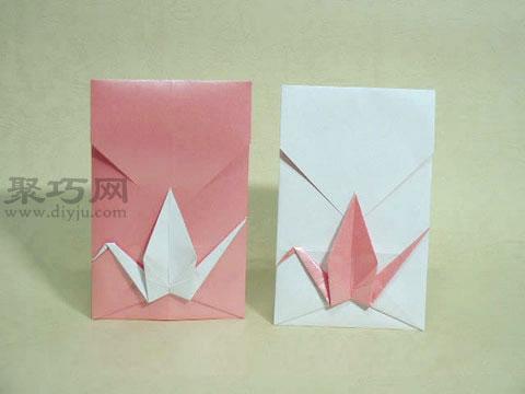 折纸千纸鹤信封图解教程 千纸鹤表白情书信封的折法