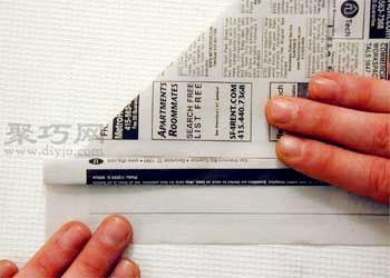 報紙帽子的折法圖解