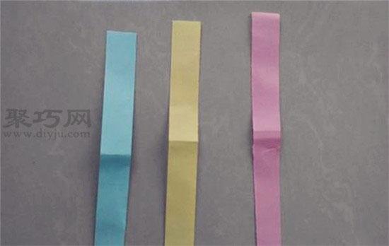 纸蜻蜓的折法 用三个小纸条折纸竹蜻蜓小风车