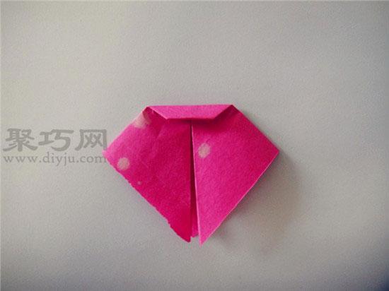 幼儿园中班折纸教案:折纸兔子脸