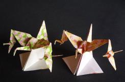 三頭千紙鶴折紙折法圖解 3只連體千紙鶴的折法