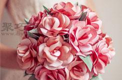 新娘手捧玫瑰花制作教程 婚禮手捧玫瑰花折紙