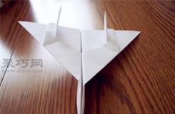 F14戰斗機折法圖解 雄貓f14紙飛機的折法