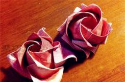 人民幣折玫瑰花圖解教程 如何用100元錢折玫瑰花