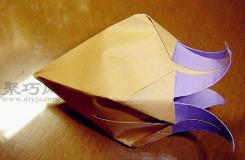 铃兰花折纸图解教程 超好看铃兰花的折法