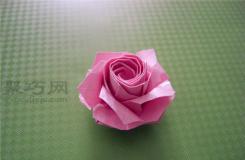 福山玫瑰折法�D解教程 如何折�福山玫瑰花