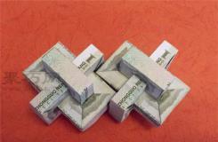 一元钱折纸鲁班锁图解教程 如何用人民币折鲁班锁