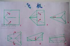 幼兒園小班折紙教案:折紙飛機 兒童折紙飛機的折法