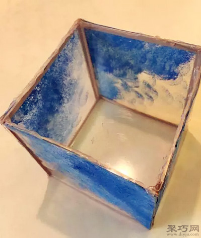 冰棒棍手工制作美式咖啡廳方形燈罩教程圖解