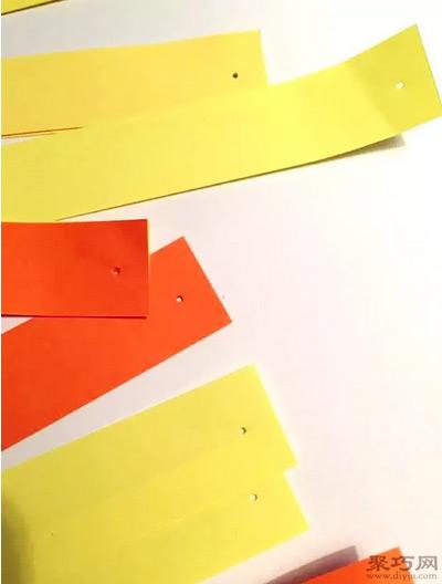 元宵节用彩纸手工制作灯笼方法图解