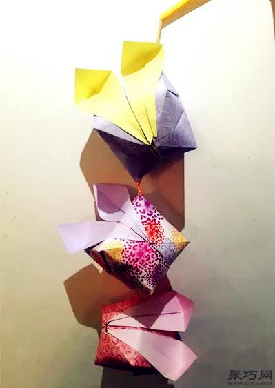 折可爱小兔子纸灯笼折法步骤图解图片