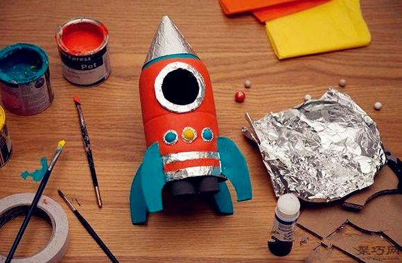 飲料瓶DIY航天火箭模型制作方法圖解