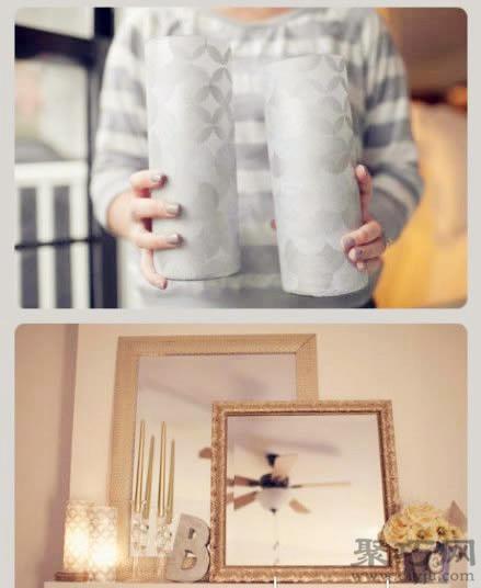 舊玻璃杯變廢為寶DIY手工制作玻璃燭臺