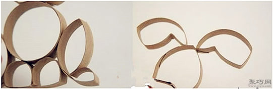 卷纸筒手工制作立体小兔子方法图解