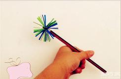塑料吸管變廢為寶創意花型小飾品