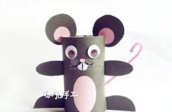 卷紙筒diy可愛卡通老鼠 衛生紙筒手工制作老鼠
