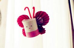 衛生紙筒廢物利用diy創意蝴蝶 卷紙筒手工制作蝴蝶教程
