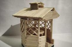 一次性筷子DIY凉亭模型 手工制作亭子教程图解