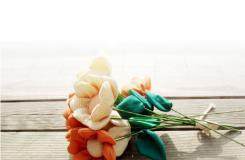 让盛夏的清凉绽放手中 手工布艺花朵教程