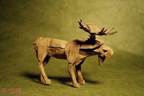 3d动物立体折纸欣赏 狮子