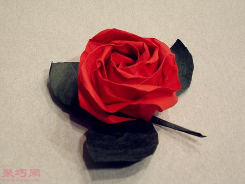 手工制作 折纸 玫瑰花步骤