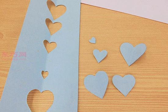 用彩色卡纸DIY手工自制心形相框教程