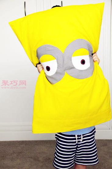 小黄人枕套DIY教程 DIY两用枕套抱枕教程
