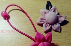布藝手工制作頭花發卡教程 教你如何自己做頭花