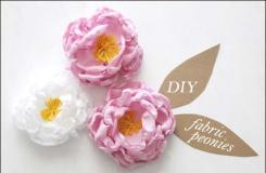 簡單布藝花朵制作圖解 一起DIY仿真布藝月季花