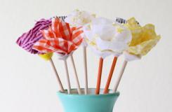 簡單手工花束制作方法 手工制作布藝花束圖解