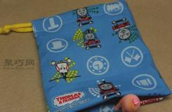 手工制作卡通零錢包圖文教程 教你DIY實用的卡通抽繩小包