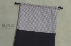 雙面拼接抽繩布袋制作教程  教你制作時尚的雙面抽繩布袋