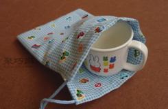 抽繩小袋制作教程 教你制作簡單的抽繩小袋
